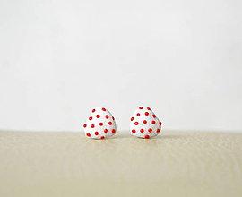 Náušnice - Mini srdiečka biele - 12360871_