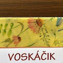 Úžitkový textil - Voskáčik - voskovaný obrúsok MIDI (poľné kvety 30*30) - 12359922_
