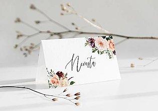 Papiernictvo - Svadobné menovky Peach Blush - 12359678_