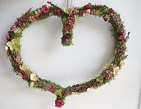 """Dekorácie - Kvetinové srdce """"Emily"""" - 12359808_"""