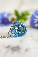 Náhrdelníky - Náhrdelník Modrá prvosienka srdce 2887 B CHO - 12359289_