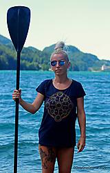 Tričká - Dámske tričko maľované, etno JALA - 12359976_