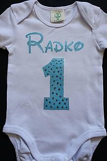 Detské oblečenie - Maľované tričko na narodeniny pre chlapca - 12360699_