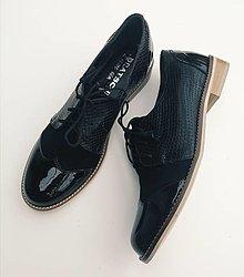 Obuv - Oxford classic Black - 12361709_