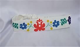 Ozdoby do vlasov - Čelenka ručne maľovaná folk 2 - 12358836_