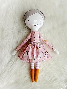 Hračky - Látková bábika - v krajine jedonožcov (ružová) - 12362290_