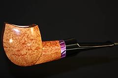 Iné - Štýlová fajka z briárového dreva - 12358855_