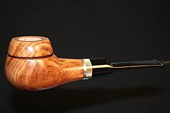 Iné - Štýlová fajka z briárového dreva - 12358886_