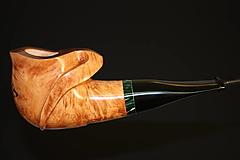 Iné - Štýlová fajka z briárového dreva - 12358898_