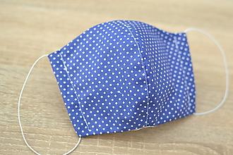 Rúška - ochranné bavlnené rúško pre väčšie deti (Modrá) - 12360364_