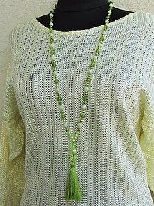 Náhrdelníky - Zelený náhrdelník - 12359397_