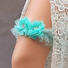 Bielizeň/Plavky - Mint ... svatební podvazek - 12363486_