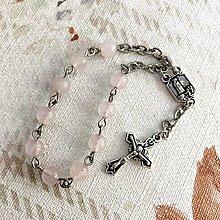 Náramky - Rose Quartz Rosary Bracelet / Ruženec do auta alebo náramok s ruženínom - 12364114_