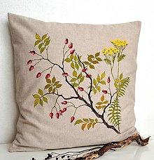 Úžitkový textil - Vankúš-ručne maľovaný-Šípky a vratič - 12363311_