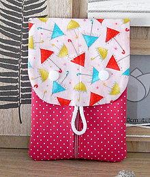Taštičky - Hygienická taštička  ružová s dáždnikmi - na tampóny a intímky ☻ - 12364401_