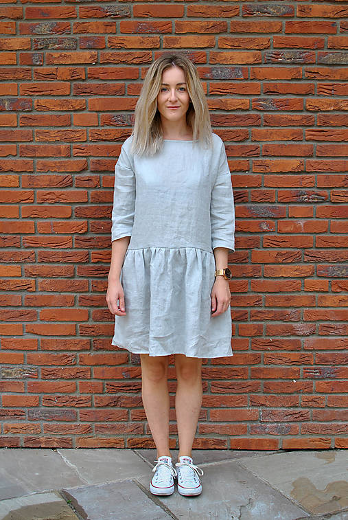 Šaty - Šaty CLARA sivé - 12363154_