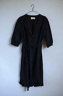 Šaty - Šaty/cardigan MARINA čierne - 12364050_