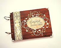 Papiernictvo - Fotoalbum svadobný * svadobný album * kniha hostí A5 - 12363708_