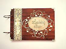 Papiernictvo - Fotoalbum svadobný * svadobný album * kniha hostí A5 - 12363716_