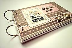 Papiernictvo - Fotoalbum svadobný * svadobný album * kniha hostí A5 - 12364120_