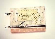 Papiernictvo - Fotoalbum svadobný * svadobný album * kniha hostí A5 - 12364142_