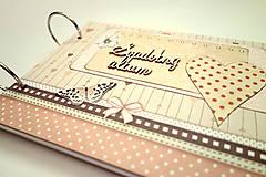 Papiernictvo - Fotoalbum svadobný * svadobný album * kniha hostí A5 - 12364156_