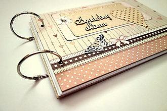 Papiernictvo - Fotoalbum svadobný * svadobný album * kniha hostí A5 - 12364143_