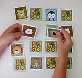 Hračky - Pexeso papierové (Zvieratká z exotiky) - 12363070_