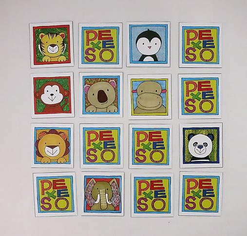 Pexeso papierové (Zvieratká z exotiky)