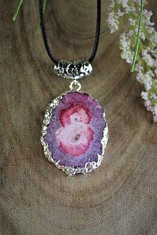 Náhrdelníky - ružový krištálový prívesok - drúza AKCIA! - 12364734_