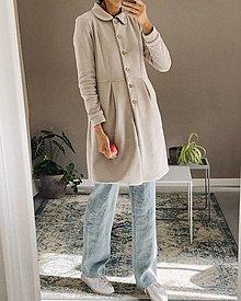 Kabáty - Teplákový podšitý kabátik - rôzne farby - 12364925_