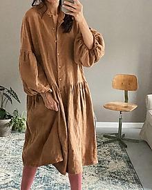 Šaty - Ľanové šaty/kabátik MEGGIE - 12364993_