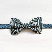 Doplnky - Motýlik modrý vzorovaný - 12363297_