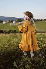 Detské oblečenie - Horčicové voľné šaty - 12363033_