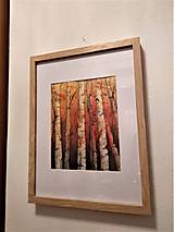 Obrazy - Brezy indigovo-oranžové (originál) - 12363815_
