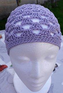 Čiapky - Svetlo fialová čiapka - 12365912_