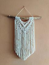 Dekorácie - Macramé dekorácia LINDA - 12365130_