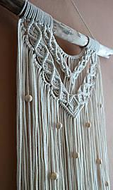 Dekorácie - Macramé dekorácia LINDA - 12365139_