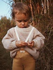 Detské oblečenie - Sveter Natália vo farbe Pearl Pink/Beige - 12365885_