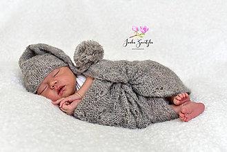 Textil - Newborn wrapy s ažúrovým vzorom - 12363035_