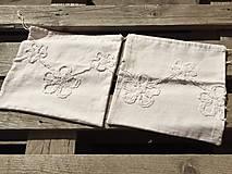 Úžitkový textil - vrecúško ľan-viskóza - 12363789_