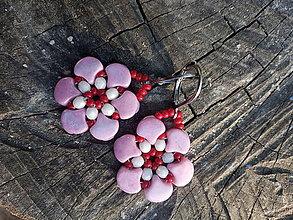 Náušnice - Nežné kvetinky,CHO - 12365142_