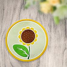 Pomôcky - Podložka kvet v kruhu slnečnica - 12365979_
