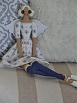 Bábiky - Jemná modrá anjelka - 12368197_