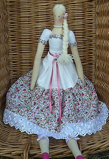 Bábiky - Textilná dekoračná bábika - 12367997_
