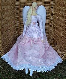 Bábiky - Anjel v ružovom. - 12368037_