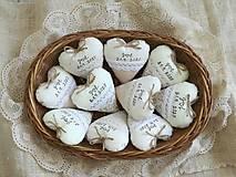 Srdiečka levanduľové,prírodné s textom II