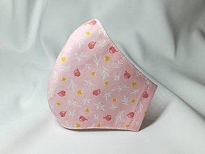 Rúška - Rúško antibakteriálne ,neantibakteriálne,vtáčiky na ružovej - 12370303_