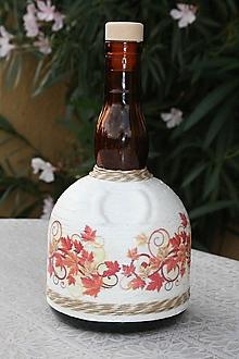 Nádoby - Fľaša - Jeseň - 12369623_