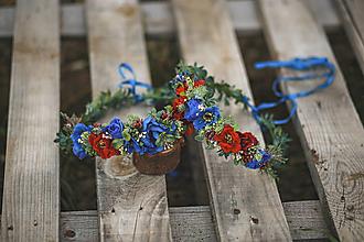 Ozdoby do vlasov - Folklórny kvetinový set Mama a dcérka - 12367215_